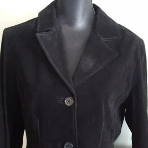 NEW Suede Button Up Hathaway Leather Jacket (M)